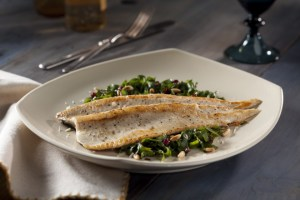 Easy Sautéed Rainbow Trout with Kale and Dried Cranberry Salad