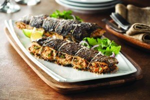 Herb and Almond Stuffed Rainbow Trout