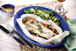 Clear Springs Rainbow Trout with Oranges and Thyme in Parchment