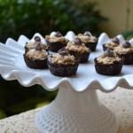 Raw Mocha Coconut Brownie Tarts [Paleo-friendly]