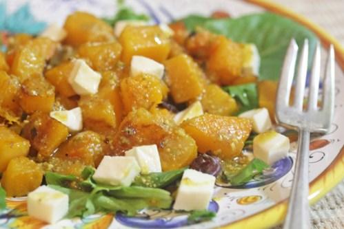 Pumpkin Salad with Fresh Mozzarella and Pistachio Pesto