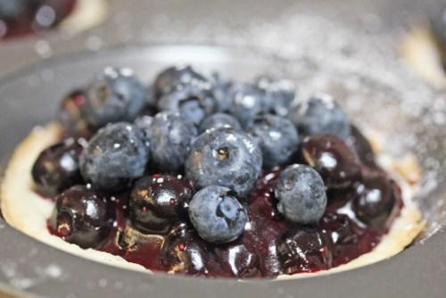 Fresh Mini Blueberry Pies