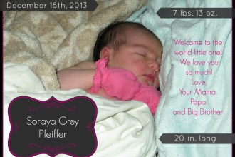 Our Littlest One!