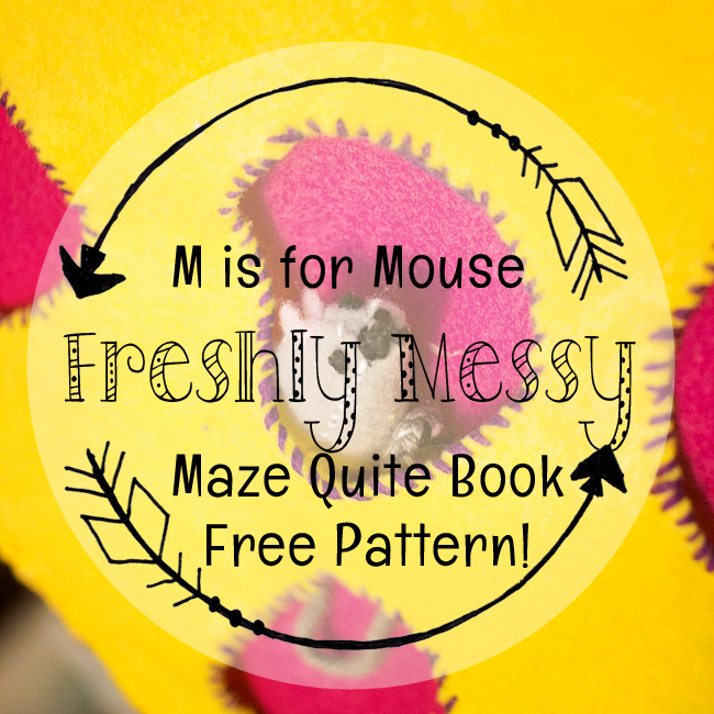 Learning the Letter M with a Mouse Maze Quiet Book Page