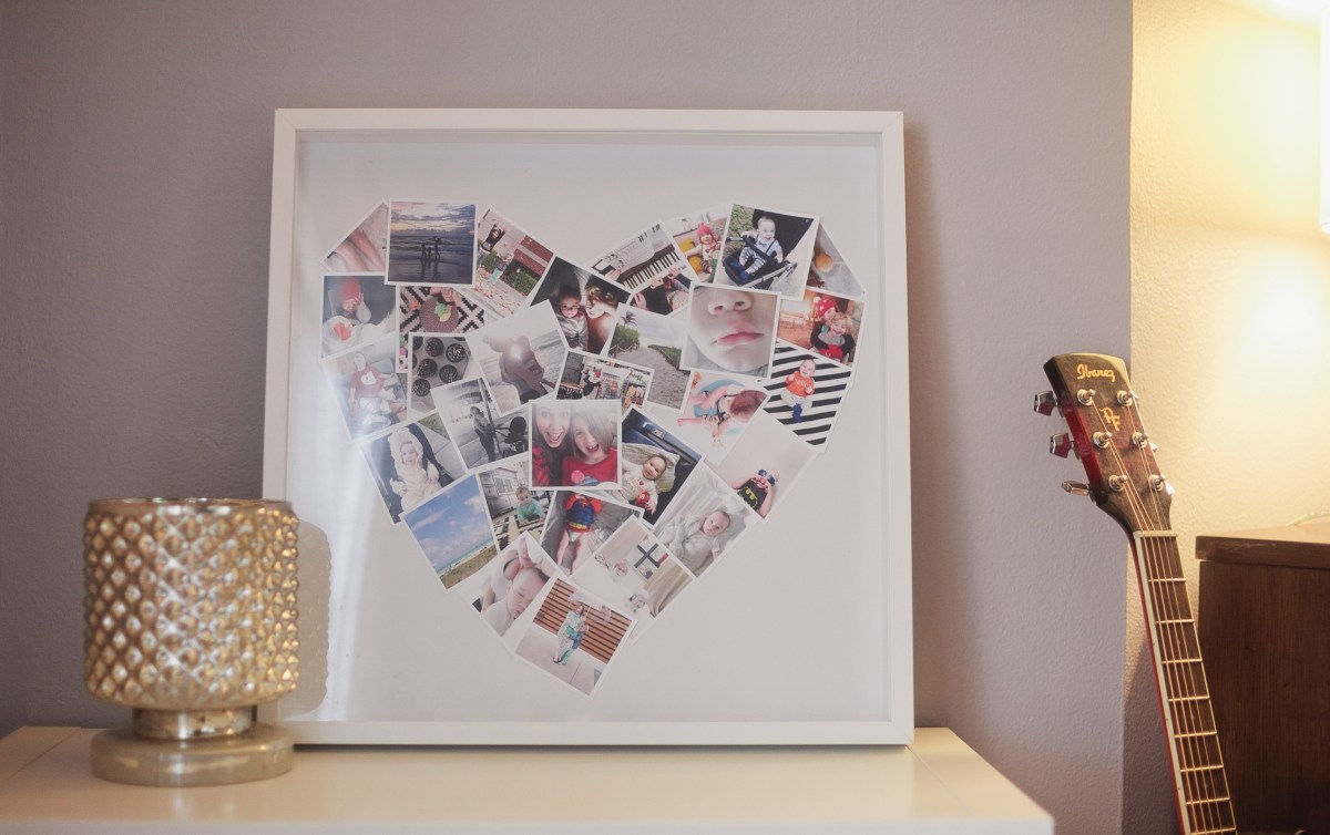 DIY // Heart Mini-Photo Collage