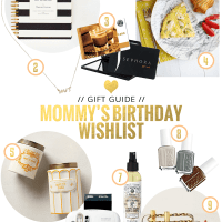 A Mommy's Birthday Wishlist