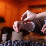 Vermont Jam Grapes Being Squeezed