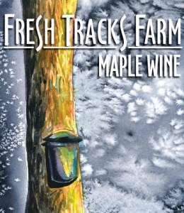 Maple Wine Label - Art by Sienna Fontaine