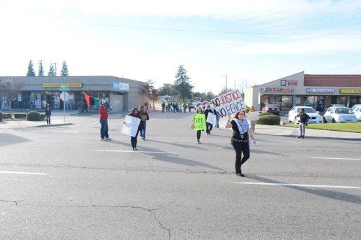 Fresno protest march against police brutality