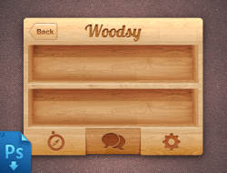 IPhone Wood UI (Free PSD)