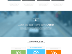 Bazinger Free Landing Page Template