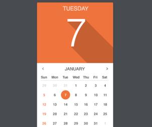 Vector Calendar Widget