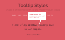 Tooltip Styles Inspiration