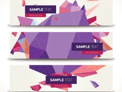 Geometric Vector Banners