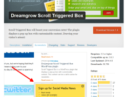 Dreamgrow Scroll Triggered Box WordPress Plugin