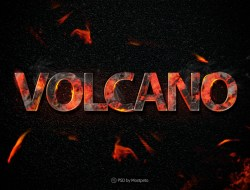Volcano Fire - Text Effect