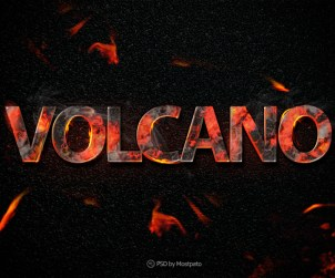 Volcano Fire - Text Effect