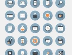 30 Flat Circular Vector Icons