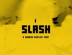 Slash Free Display Font