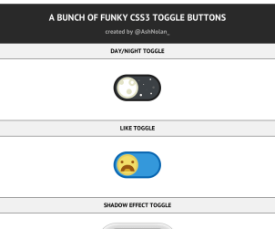 A Bunch of Funky CSS3 Toggle Buttons