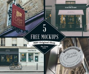 5 Free Signs and Frames Mockups