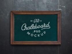 Chalkboard Free MockUp