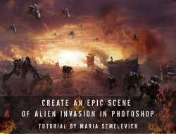 How to Create an Epic Scene of Alien Invasion in Photoshop