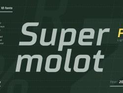 Supermolot Light Free Font