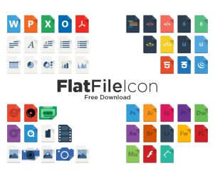 Free Vector Flat File Icons