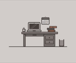 How to Create a Desk Scenery Illustration Using Adobe Illustrator