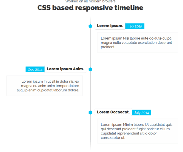 Pure CSS3 Responsive Timeline