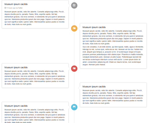 Timeline Using Bootstrap