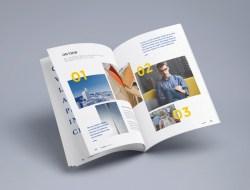 Free Photorealistic Magazine MockUp