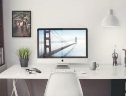 Free iMac 5K Retina Office Mockup