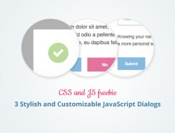 3 Stylish and Customizable JavaScript Dialogs