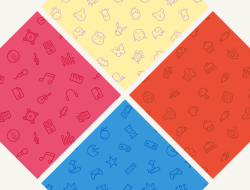4 Free Seamless Icon Patterns