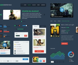 GameCenter Pack Game-focused UI Kit