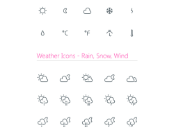 Free Weather Outline Icons