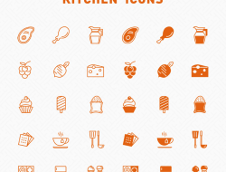 Free Line & Filled Kitchen Icons