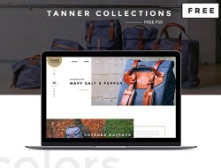 Tanner Collections Free PSD E-Commerce Website Template