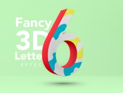 Fancy 3D Letter Text Effect