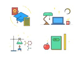 School App Onboarding Illustratons