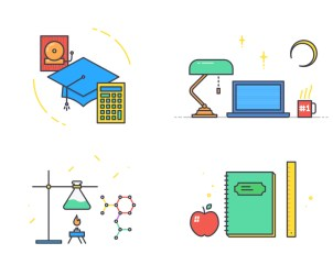 School App Onboarding Illustratons