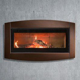 T&C Linear Wood Fireplace Copper Surround