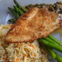 Chicken piccata and rice pilaf ¦ Friend That Cooks Blog