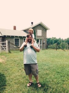 Jody & Eli outside the Milk house at the Carl Sandburg House