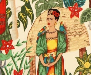 Frida's garden on a sand background