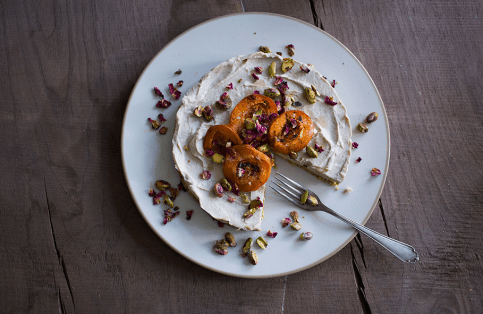 Apricot Summer Cake with Pistachios