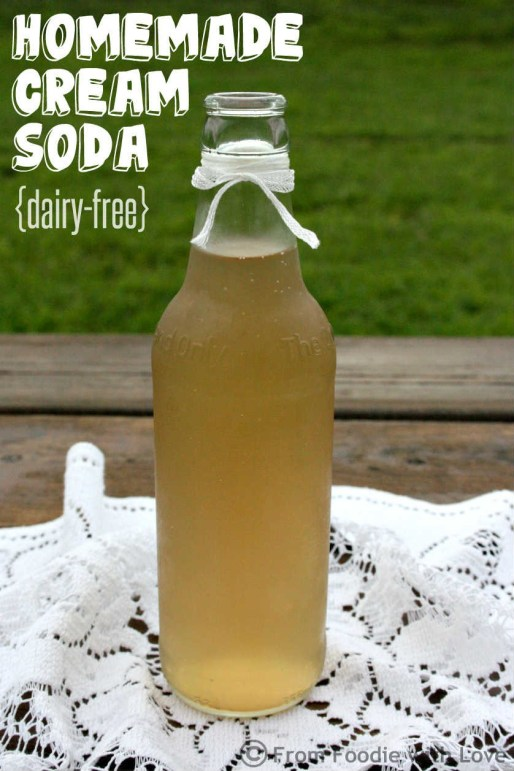 Homemade Cream Soda Bottle