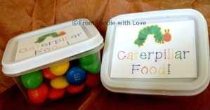 Caterpillar Food Favors